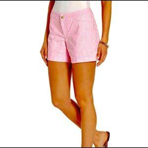 Lilly Pulitzer Kelly Short pink tropics seersucker